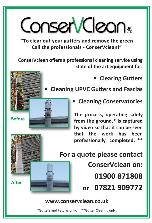 Conservclean clean gutters fascias cumbria